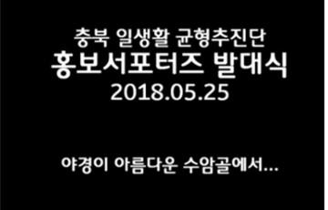 2018년 충북 일.생활 균형 추진협의회 발대식